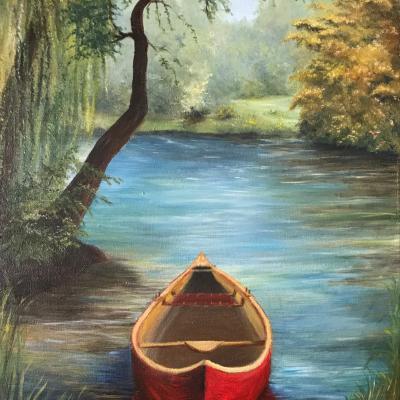 Barque sur berge