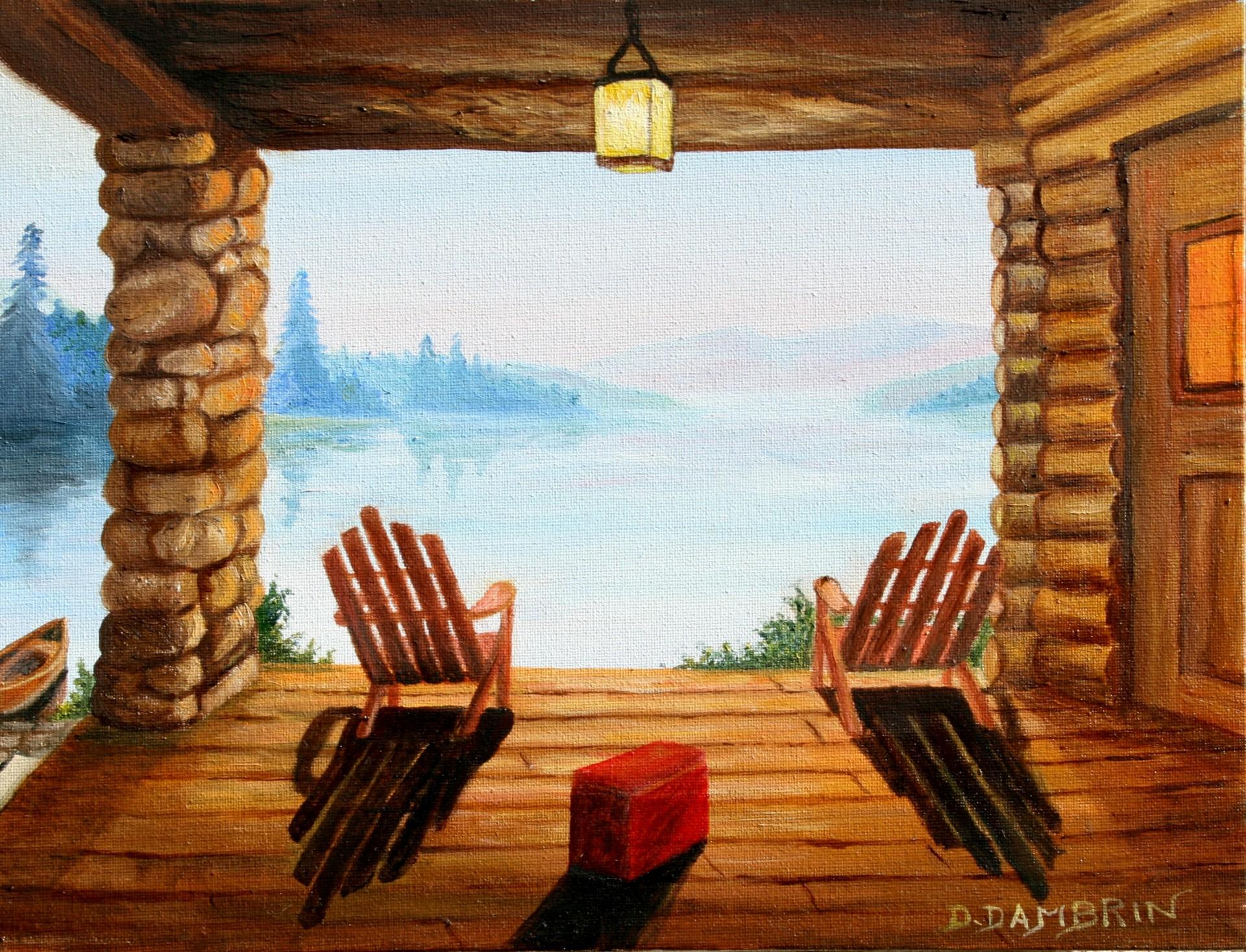 Cabane au bord du lac