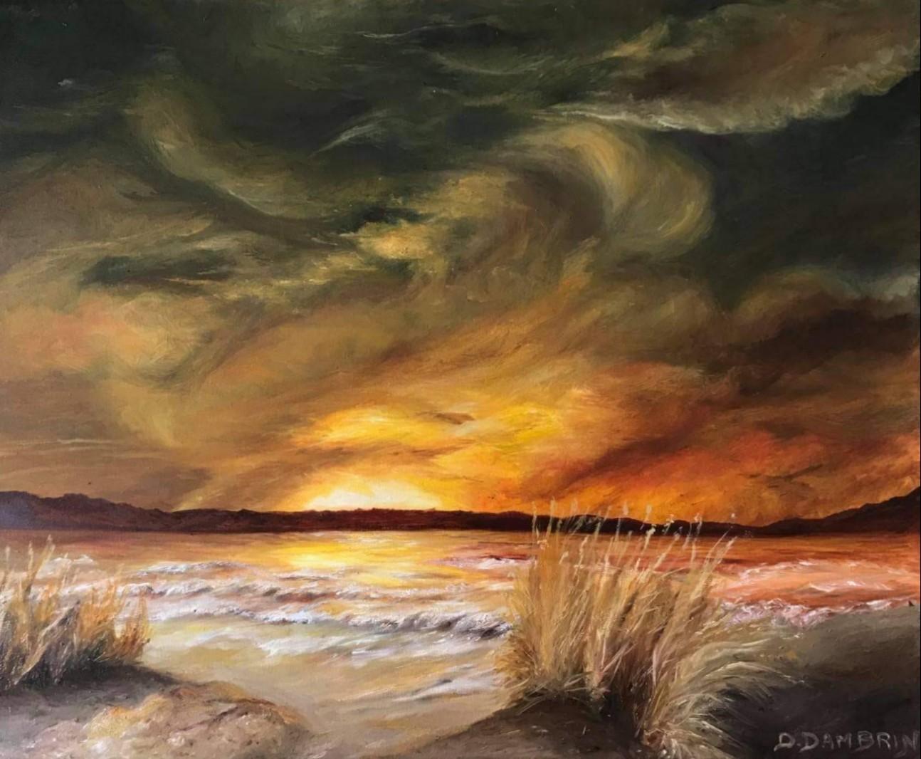 Dunes au coucher de soleil
