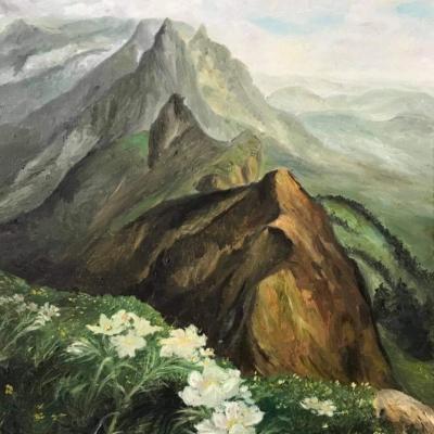 Fleurs au sommet