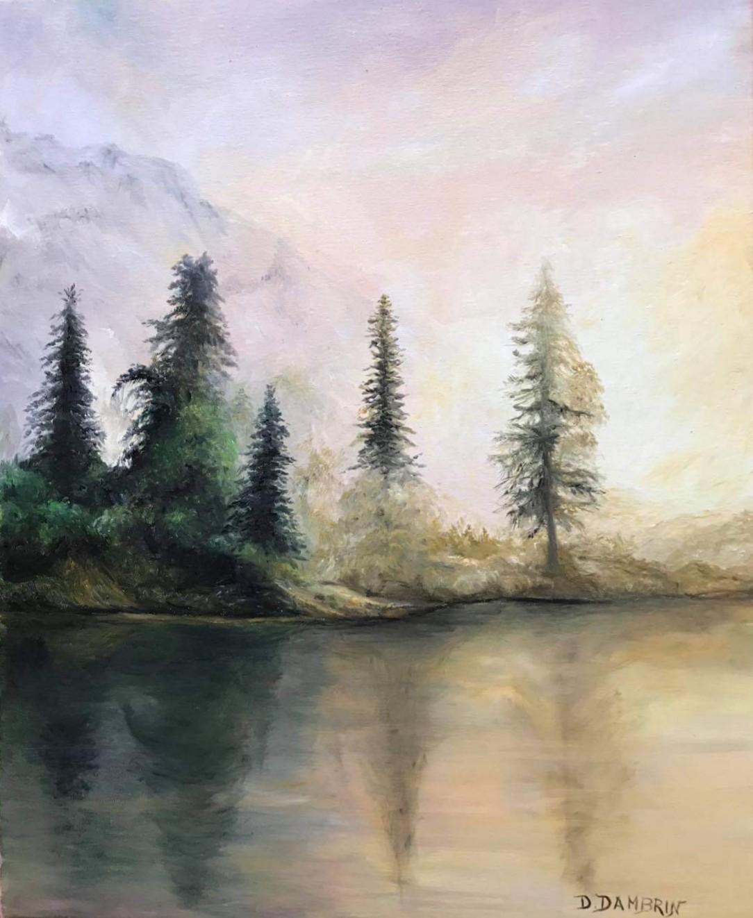 Reflet de berge