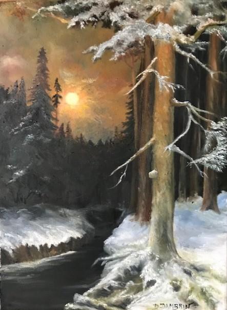 Sous bois enneige sous la neige